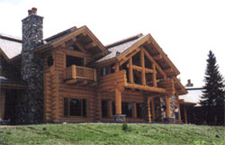 Jim Barna's handcrafted homes are created from select timbers from the Pacific Northwest, such as Lodgepole Pine, Engleman Spruce, Douglas Fir, and Western Red Cedar. These woods are renowned for their strength and beauty, and are easily shaped with hand tools.